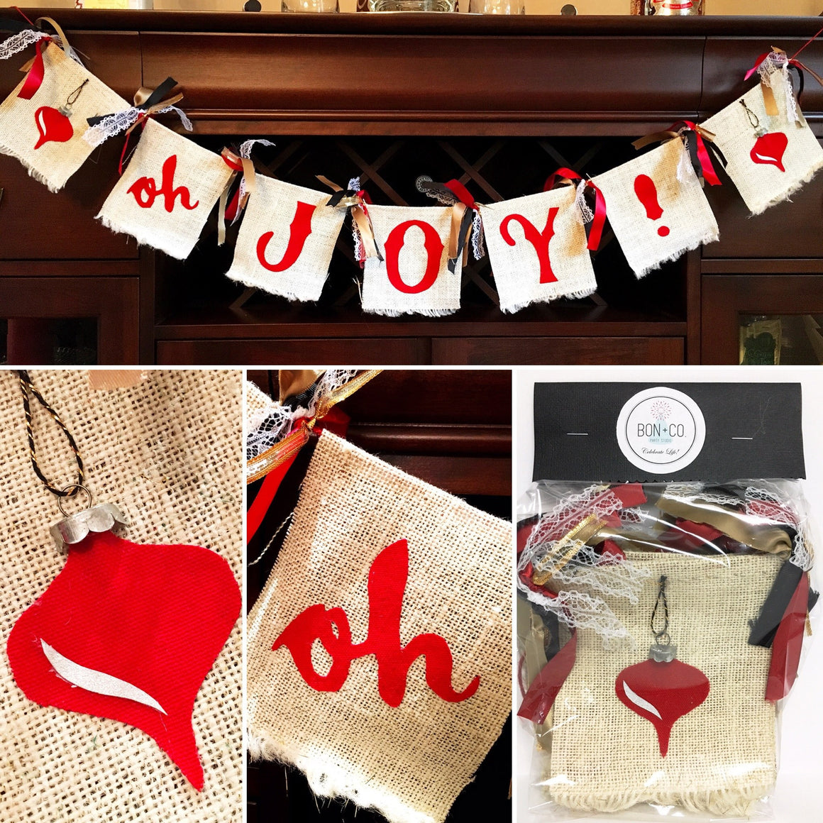 SPECIALTY GARLAND - OH JOY BURLAP