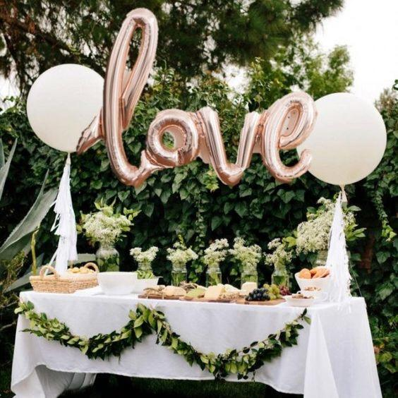 BALLOONS - SCRIPT LOVE ROSE GOLD, Balloons, TALKING TABLES - Bon + Co. Party Studio