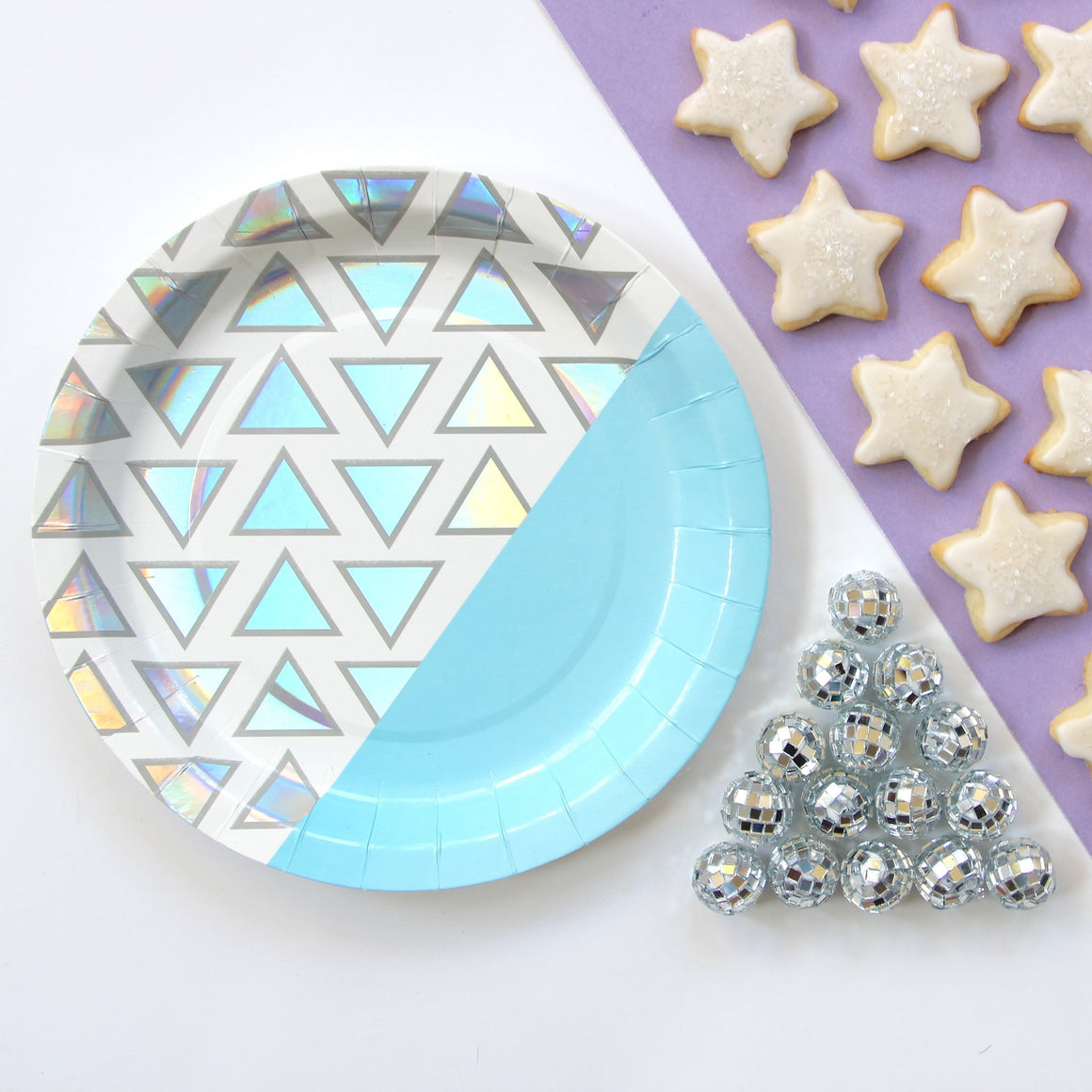 BASH DISCO DIAMOND PLATE, PLATES, BASH - Bon + Co. Party Studio