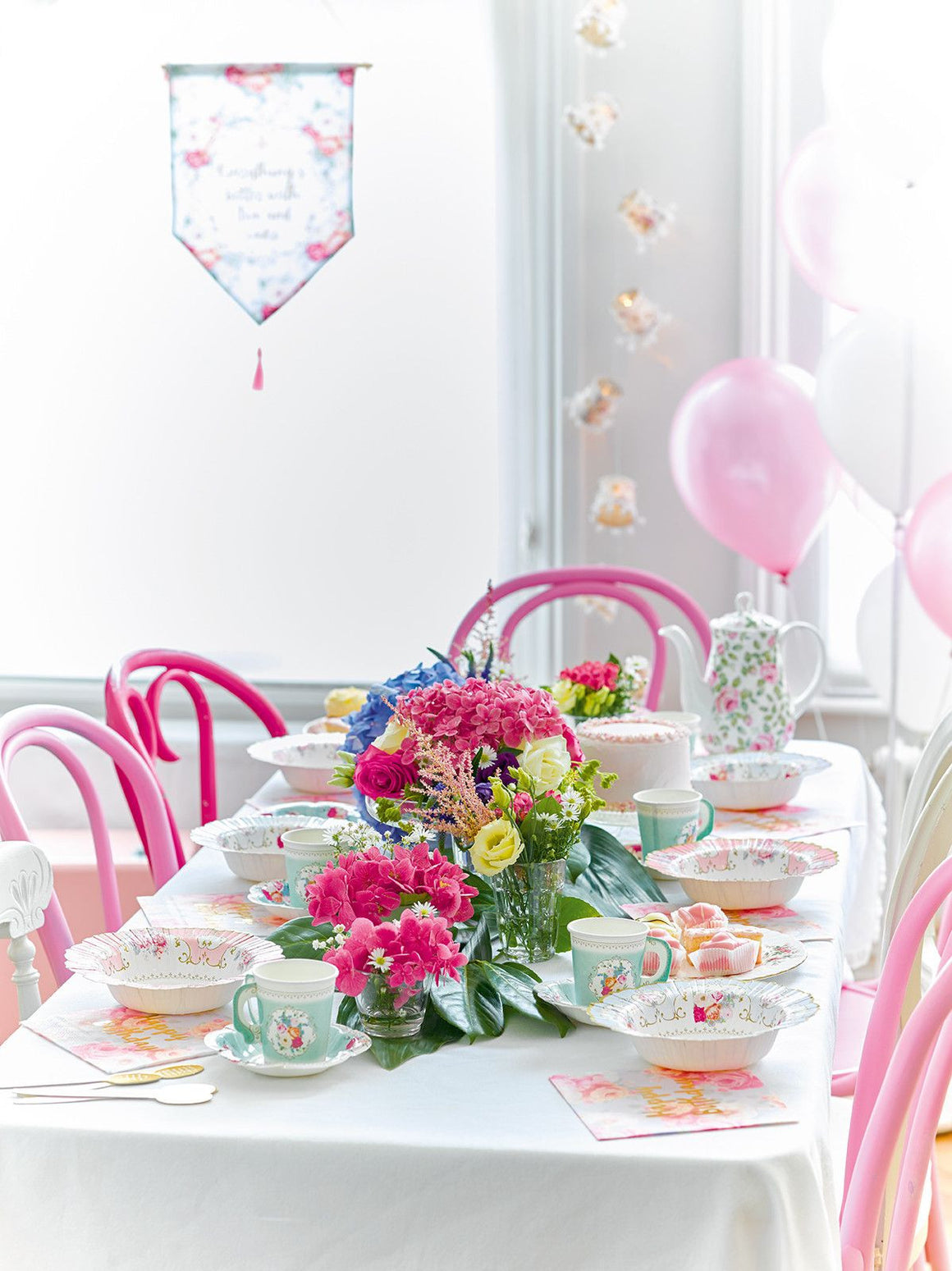 CUPS - TRULY SCRUMPTIOUS TEACUP + SAUCER TALKING TABLES, CUPS, TALKING TABLES - Bon + Co. Party Studio