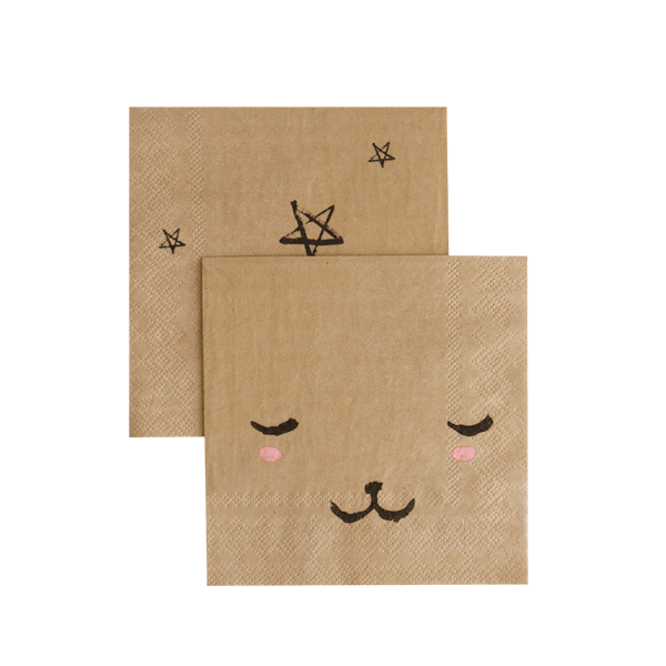 MODERN CAMP BEAR FACE NAPKIN, NAPKINS, HARLOW & GREY - Bon + Co. Party Studio