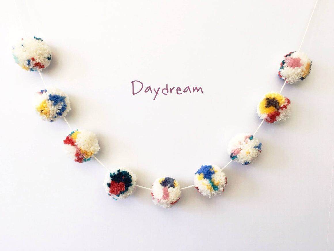 DAYDREAM POM POM GARLAND, Pom Pom Garland, BON + CO - Bon + Co. Party Studio