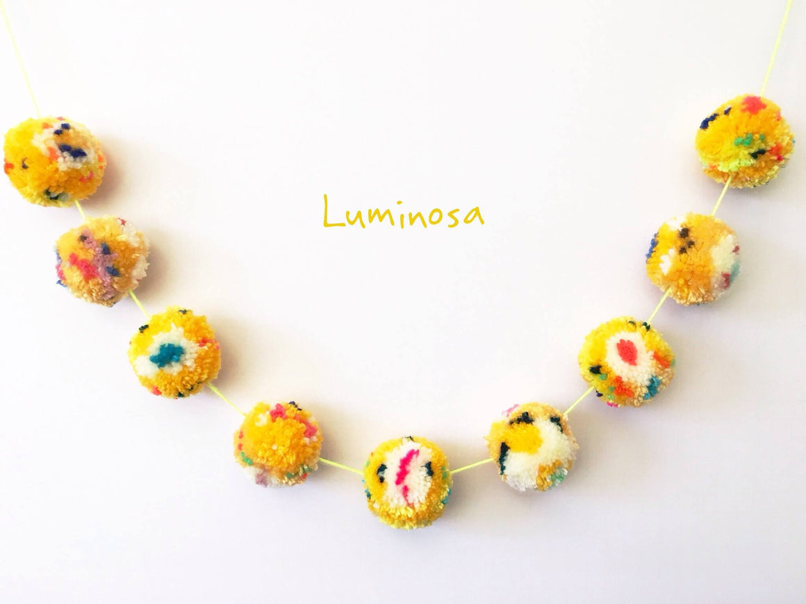LUMINOSA POM POM GARLAND, Pom Pom Garland, BON + CO - Bon + Co. Party Studio