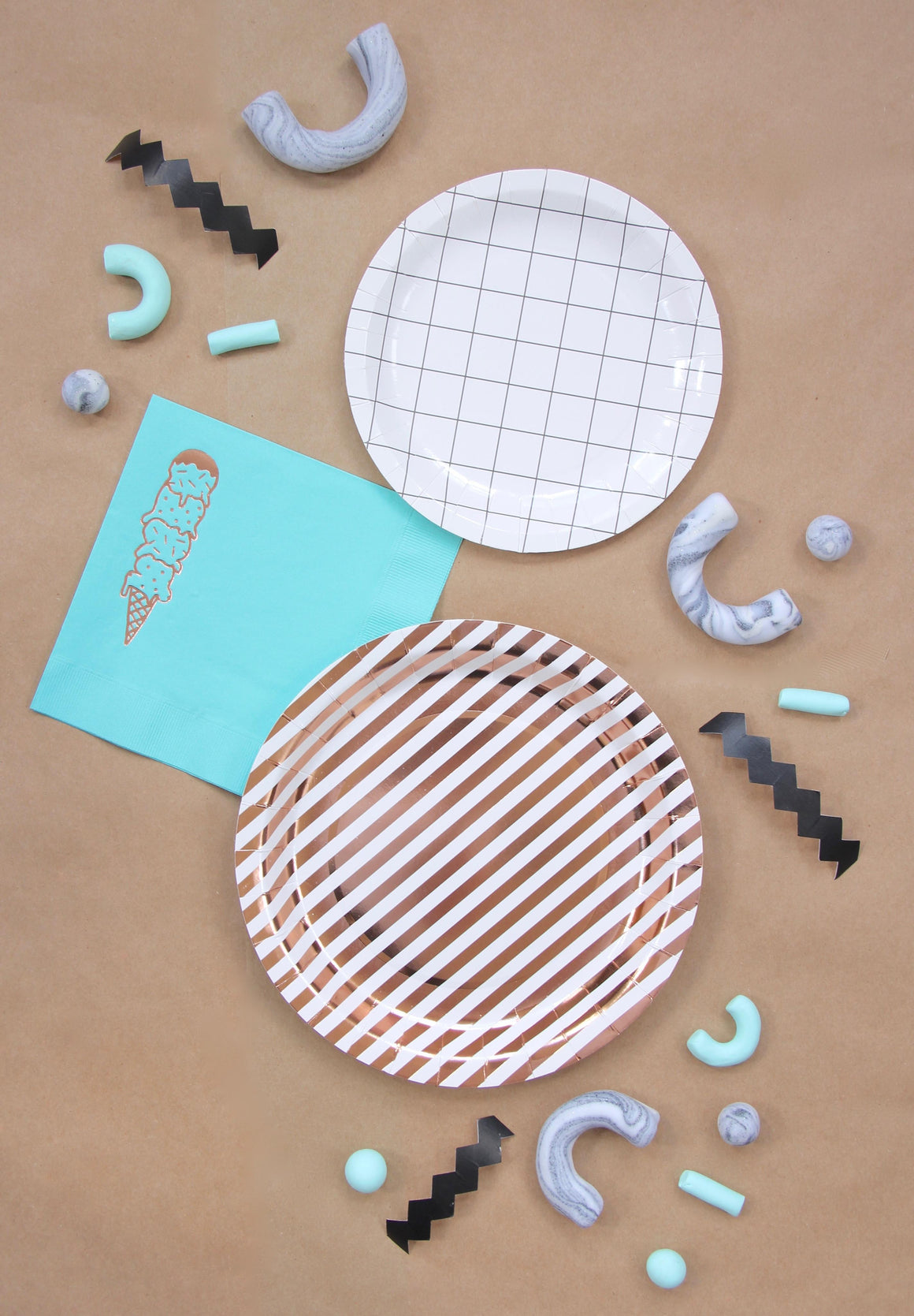 BASH COPPER LUXE PLATE, PLATES, BASH - Bon + Co. Party Studio