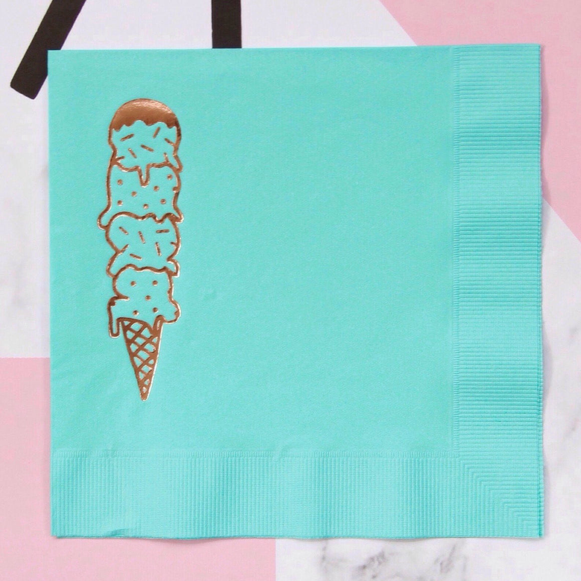 NAPKINS - LARGE SCOOPS AQUA