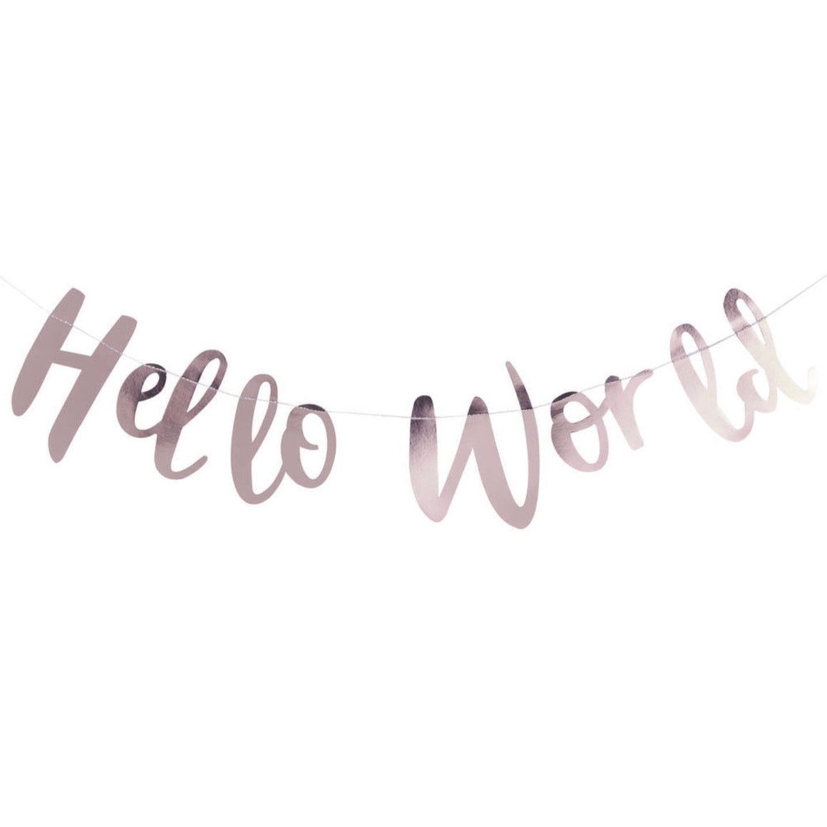 WORD MIX GARLAND - HELLO WORLD ROSE GOLD