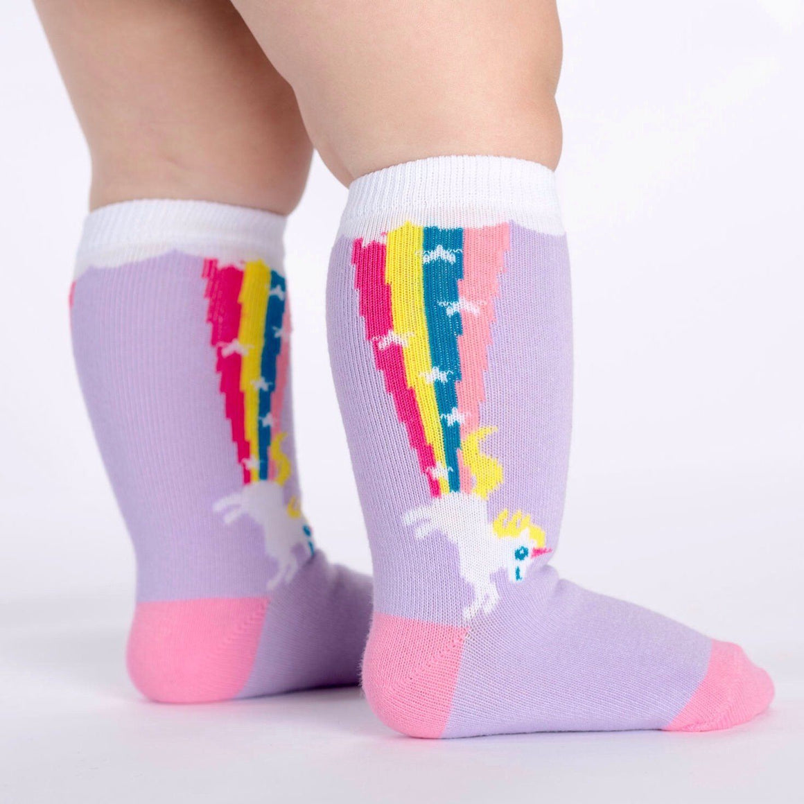 SOCKS - TODDLER KNEE RAINBOW BLAST