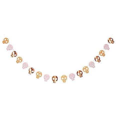 BANNER - SUGAR SKULL ROSE GOLD, Buntings, MERI MERI - Bon + Co. Party Studio