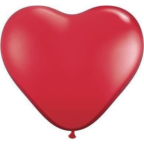 "BALLOON BAR - HEART 36"" RED, Balloons, QUALATEX - Bon + Co. Party Studio"