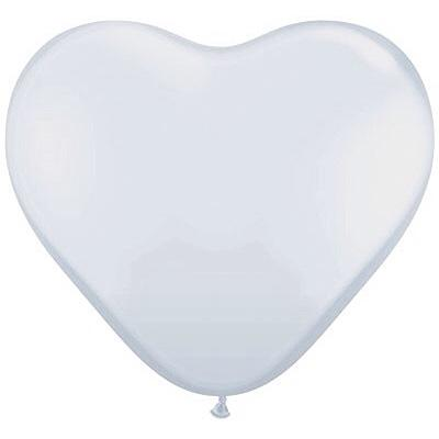 "BALLOON BAR - HEART 36"" WHITE, Balloons, QUALATEX - Bon + Co. Party Studio"