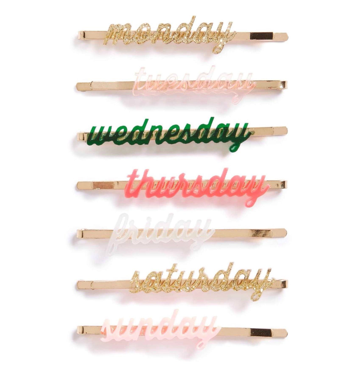 ACCESSORIES - HAIR SLIDES DAYS OF THE WEEK, ACCESSORIES, MERI MERI - Bon + Co. Party Studio
