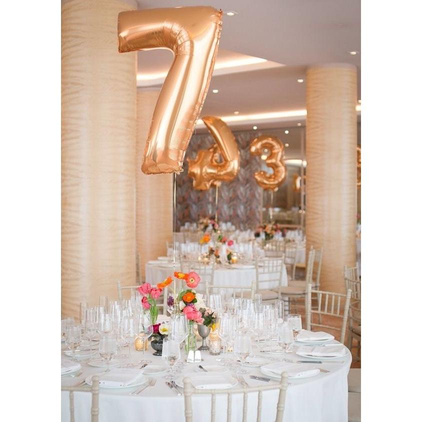 "BALLOON BAR - 40"" JUMBO LETTER, NUMBER OR SYMBOL ROSE GOLD, Balloons, BETALLIC - Bon + Co. Party Studio"