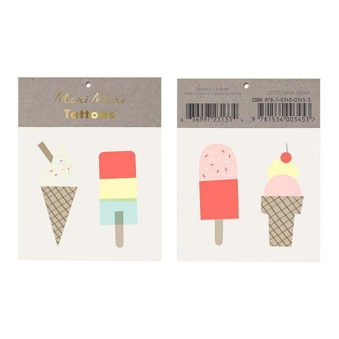 TATTOOS - ICE CREAM LOLLY, Tattoos, MERI MERI - Bon + Co. Party Studio