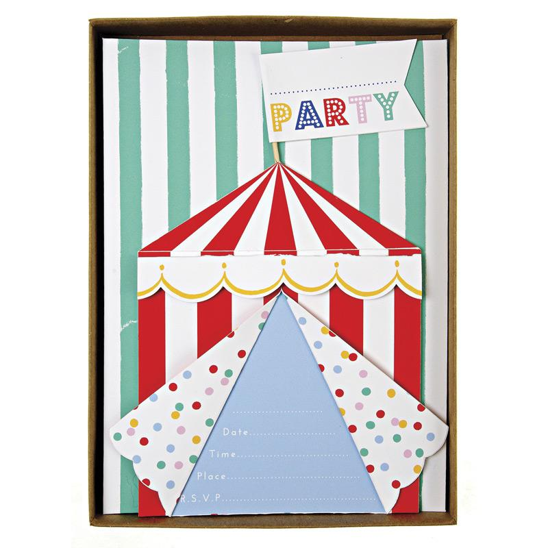 INVITATIONS - TOOT SWEET SPOTTY BIG TOP, INVITATION, MERI MERI - Bon + Co. Party Studio
