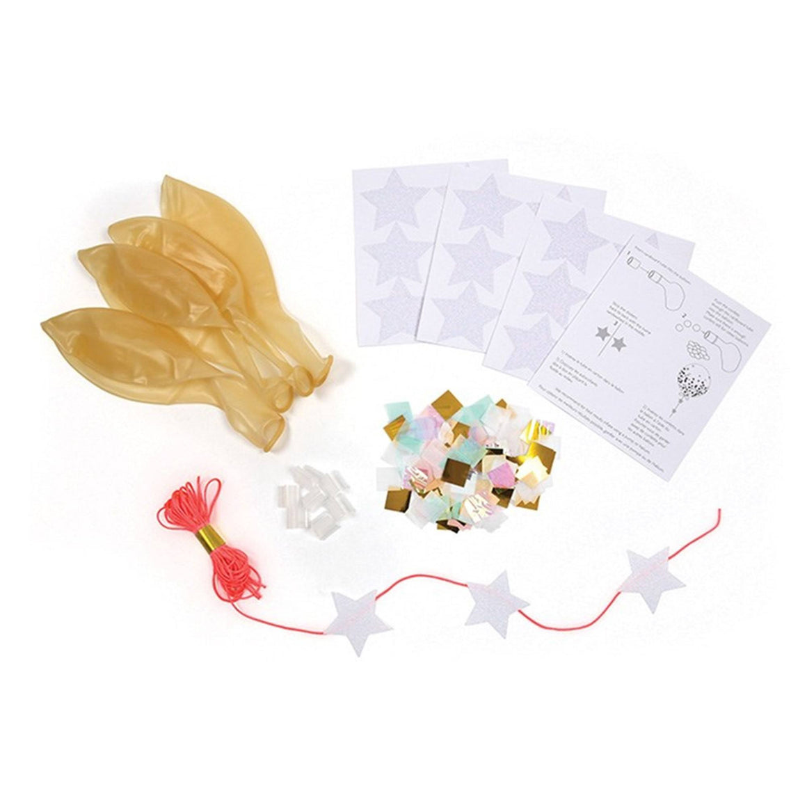 BALLOONS - CONFETTI KIT IRIDESCENT, Balloons, MERI MERI - Bon + Co. Party Studio