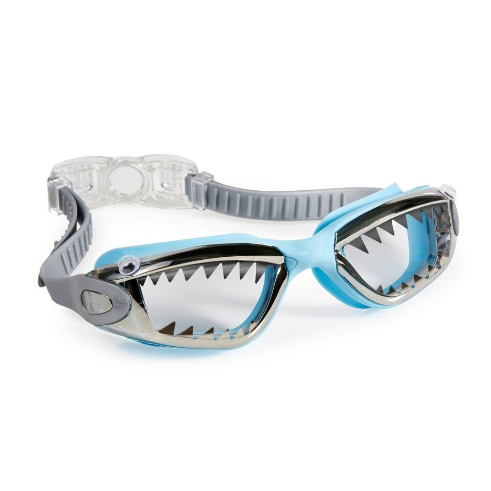 BLING2o GOGGLES - JAWSOME BABY BLUE TIP SHARK, Swim goggles, Bling2o - Bon + Co. Party Studio
