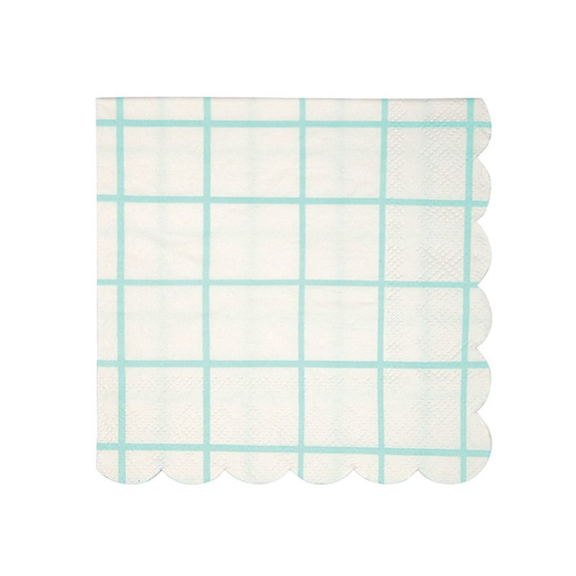 NAPKINS - COCKTAIL MINT GRID