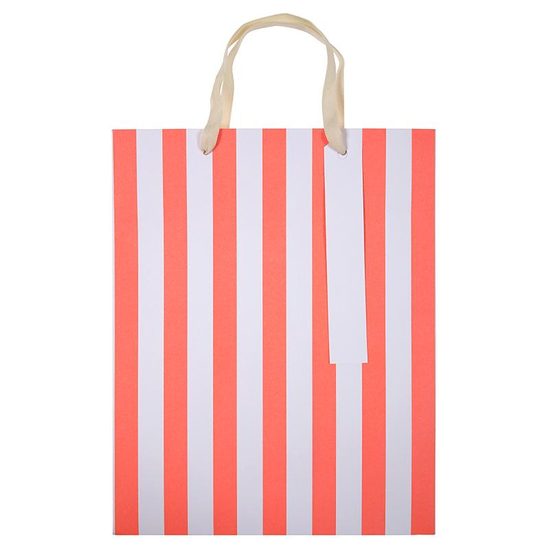 GIFT GIVING - BAGS NEON STRIPE 3 PACK