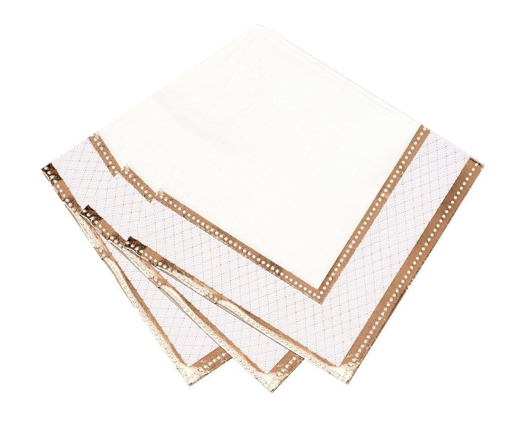 NAPKINS - LARGE PARTY PORCELAIN ROSE GOLD **Coming September**