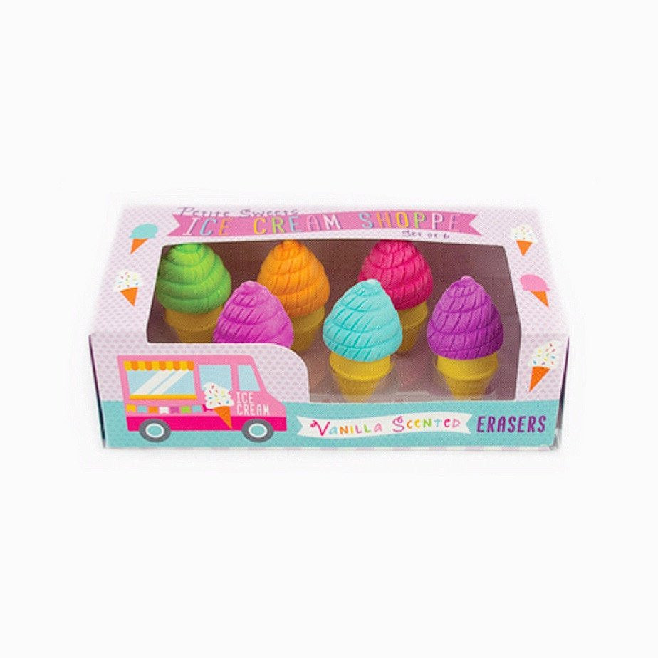 STATIONERY - ERASERS SCENTED ICE CREAM