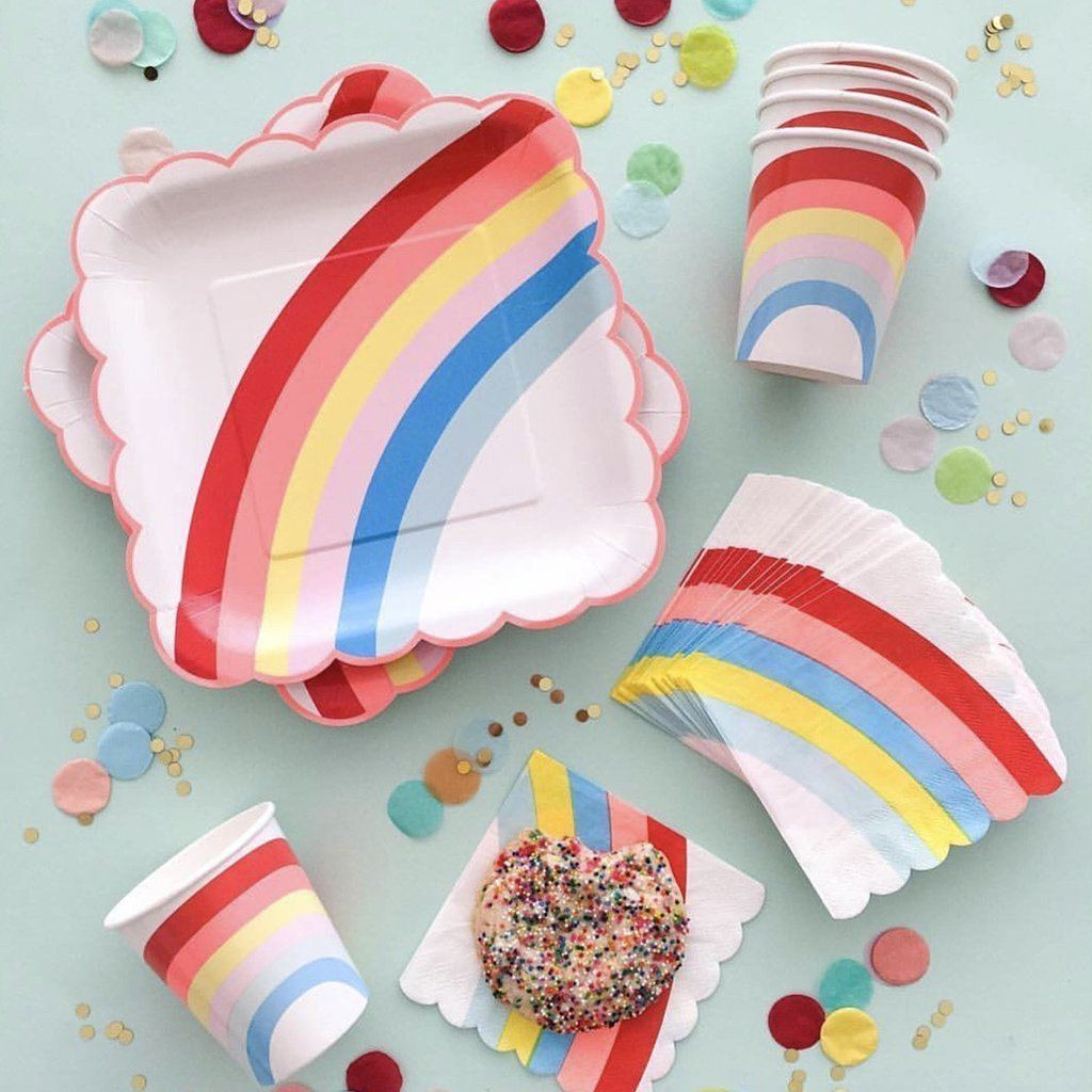 RAINBOW SMALL NAPKIN, NAPKINS, MERI MERI - Bon + Co. Party Studio