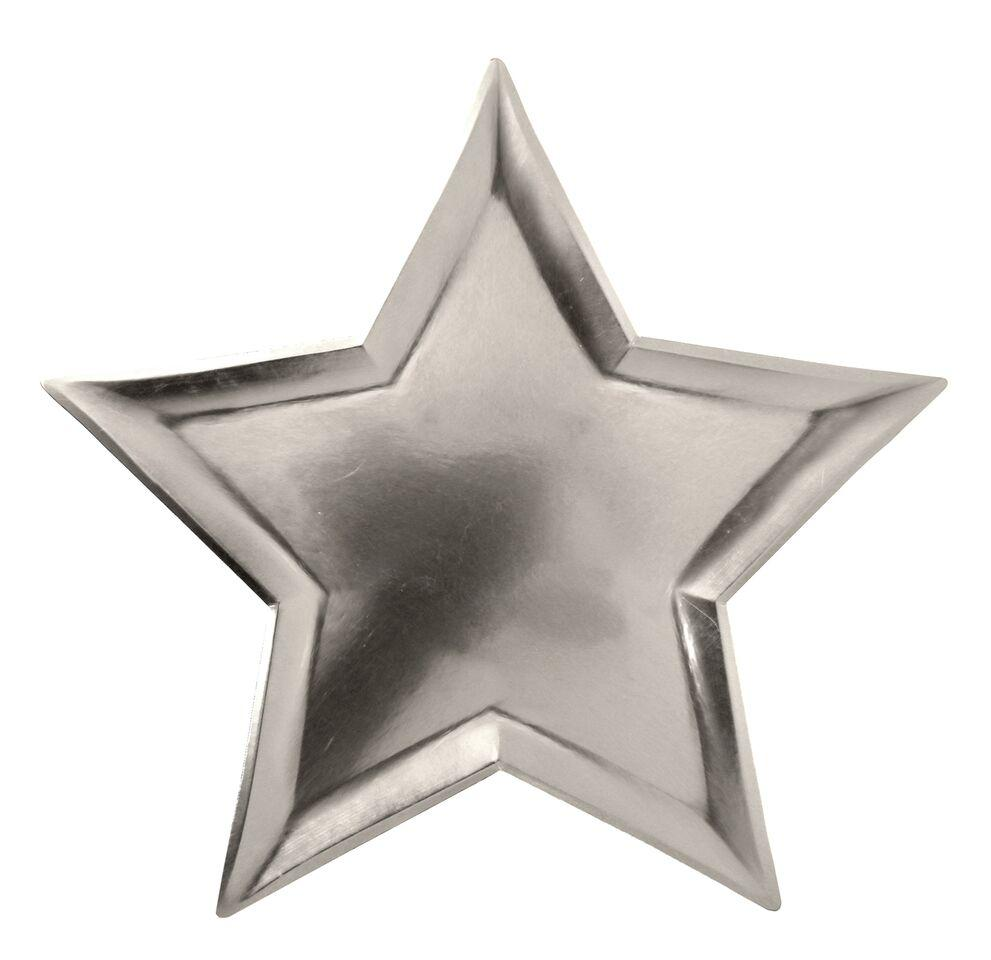 PLATES - LARGE STAR SILVER