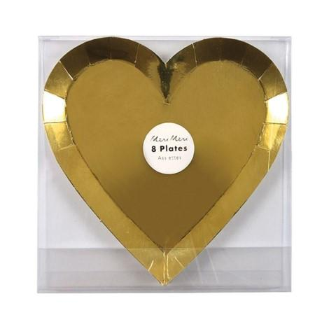 PLATES - SMALL GOLD HEART