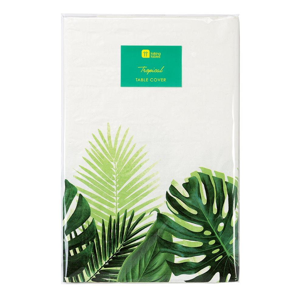 TABLECOVER - TROPICAL PALM LEAF TALKING TABLES