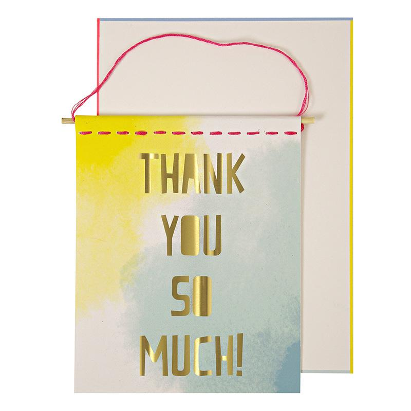 GREETING CARD - THANK YOU BANNER, GIFT GIVING, MERI MERI - Bon + Co. Party Studio
