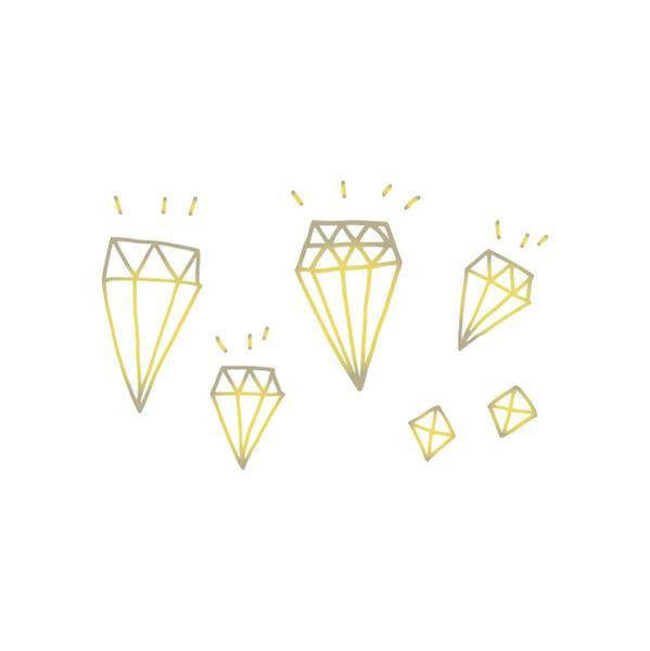 TATTOOS - TATTLY DIAMONDS IN GOLD