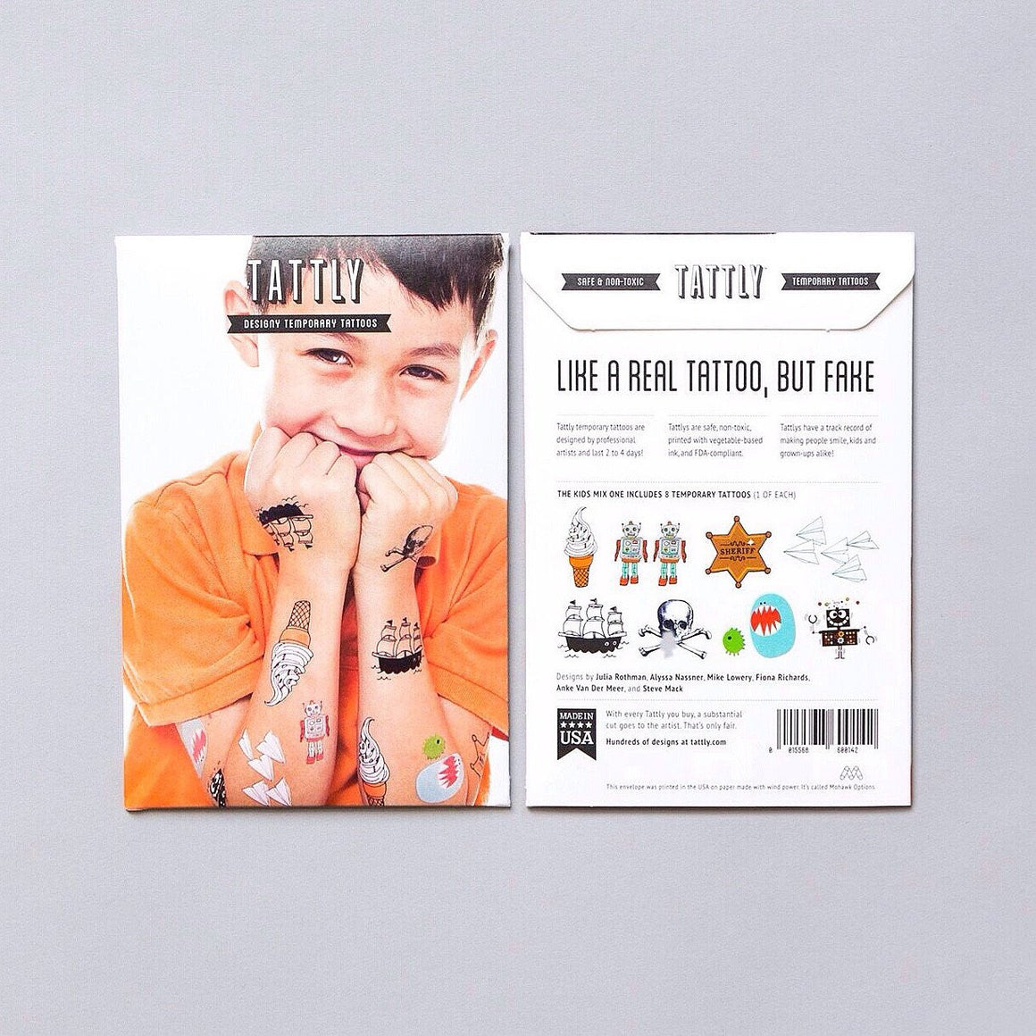 TATTOOS - TATTLY KIDS MIX ONE SET