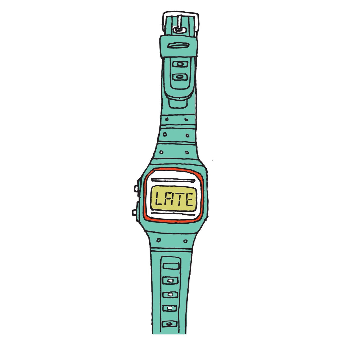 TATTOOS - TATTLY YOU'RE LATE WATCH TURQUOISE