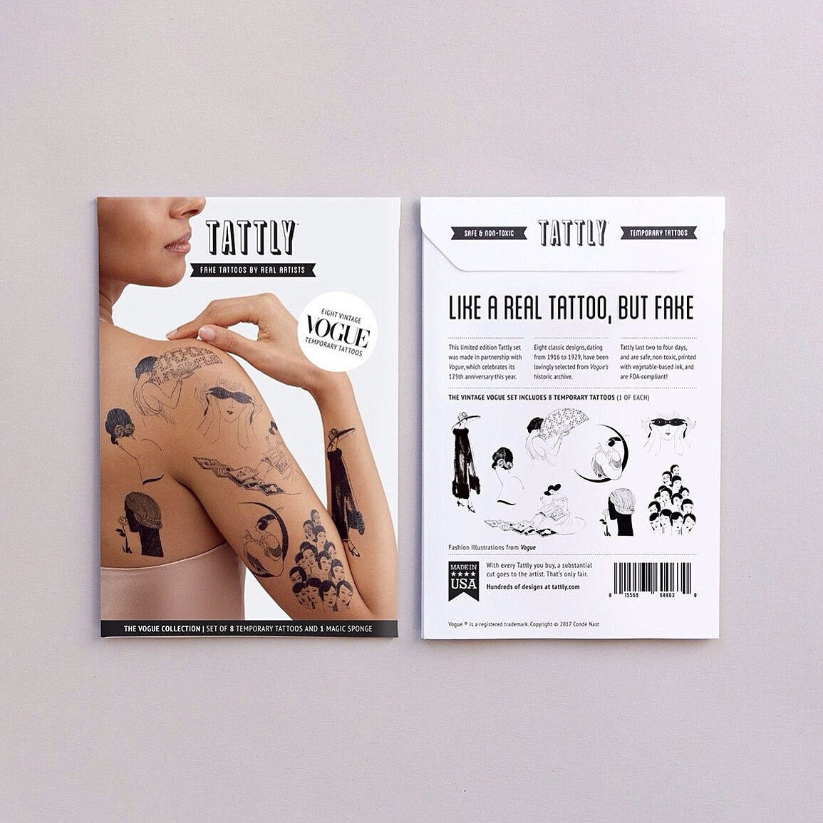 TATTOOS - TATTLY VINTAGE VOGUE SET BY VOGUE, Tattoos, Tattly - Bon + Co. Party Studio
