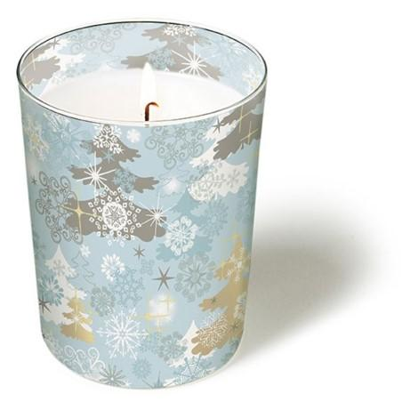 HOME - GLASS CANDLE A TOUCH OF WINTER ** Sale **