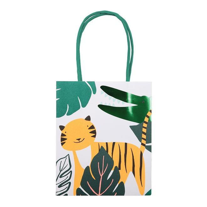 GIFT BAGS - GO WILD JUNGLE ANIMAL 8 PACK MERI MERI, GIFT GIVING, MERI MERI - Bon + Co. Party Studio