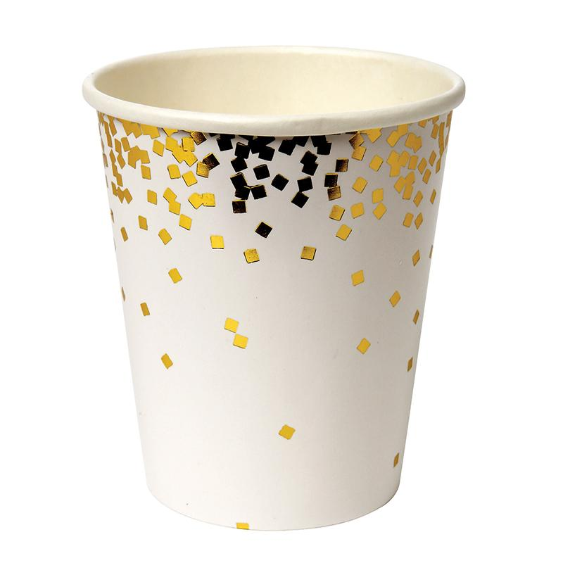 CUPS - GOLD CONFETTI, CUPS, MERI MERI - Bon + Co. Party Studio