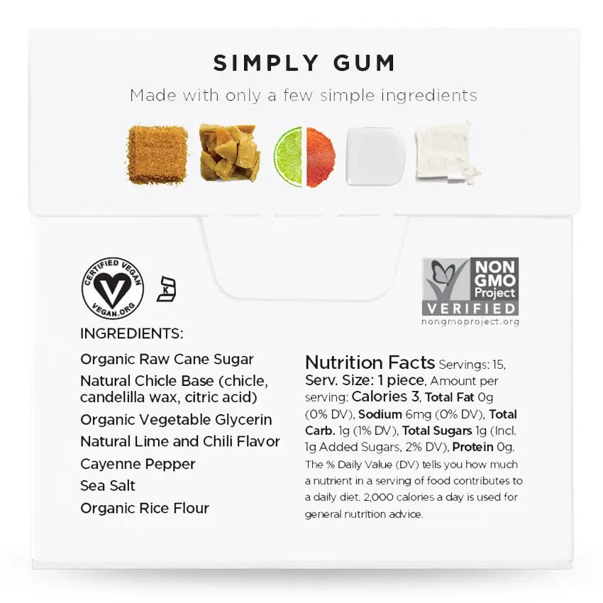 NATURAL CHEWING GUM - REVIVE LIME CHILI SEA SALT
