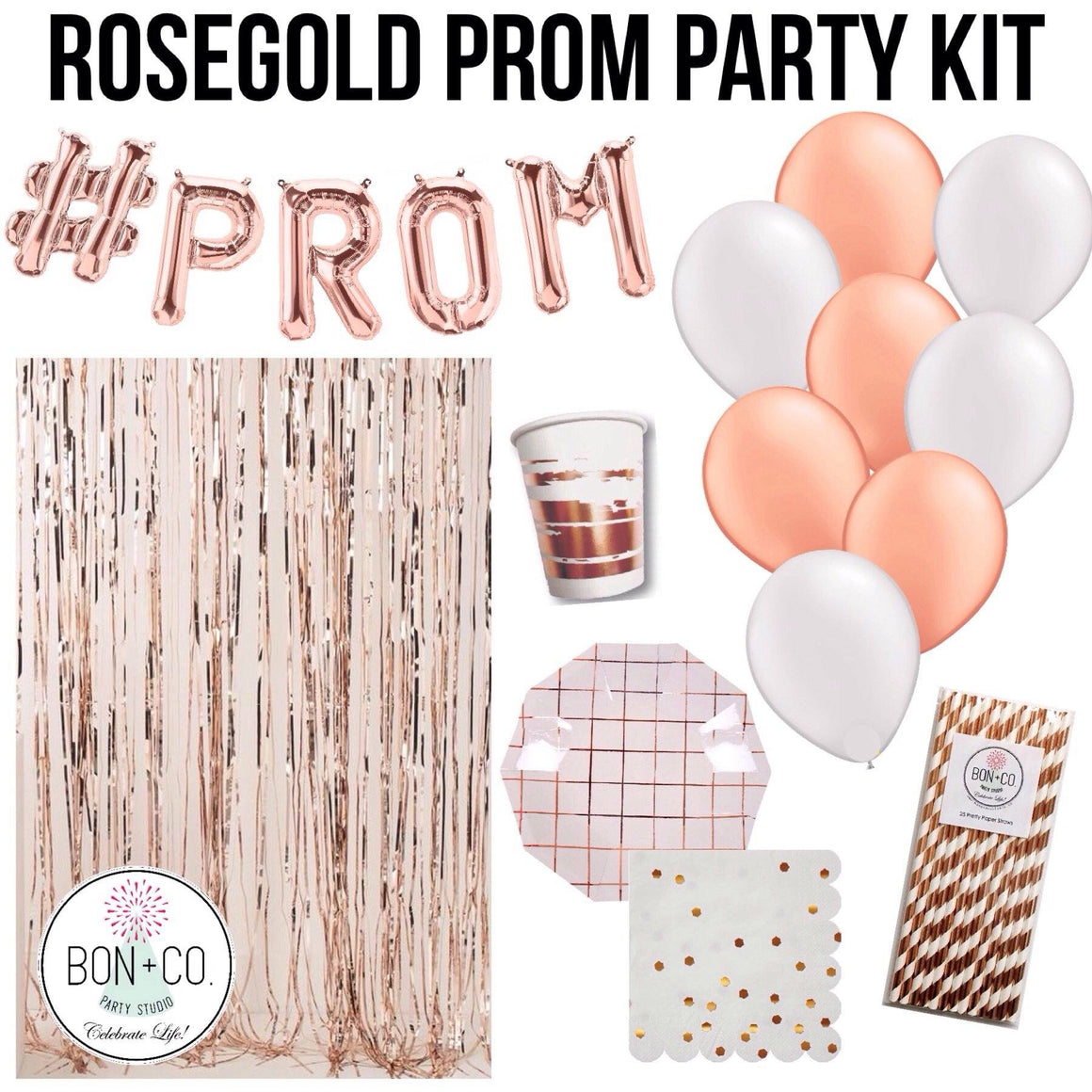 PARTY KIT - PROM ROSEGOLD