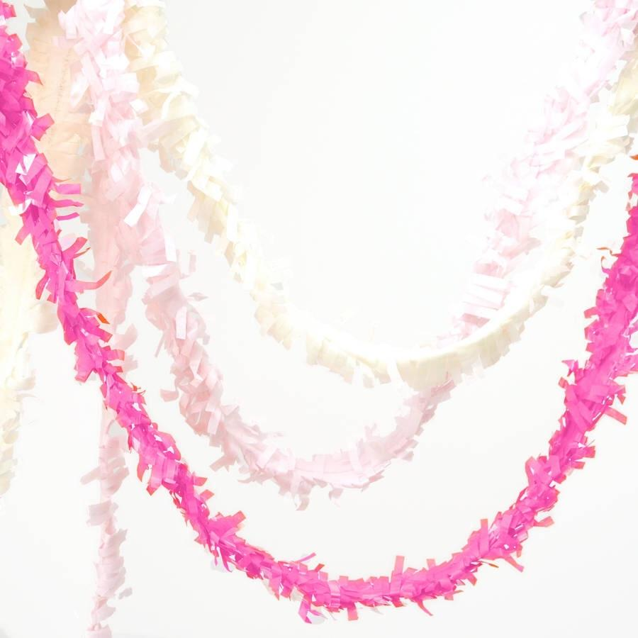 TISSUE FRINGE GARLAND - FESTOONING, Tassel Garland, SKS - Beistle Co - Bon + Co. Party Studio