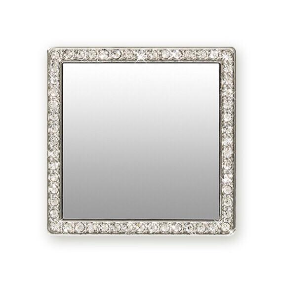 TECH - PHONE MIRROR SILVER CRYSTAL SQUARE