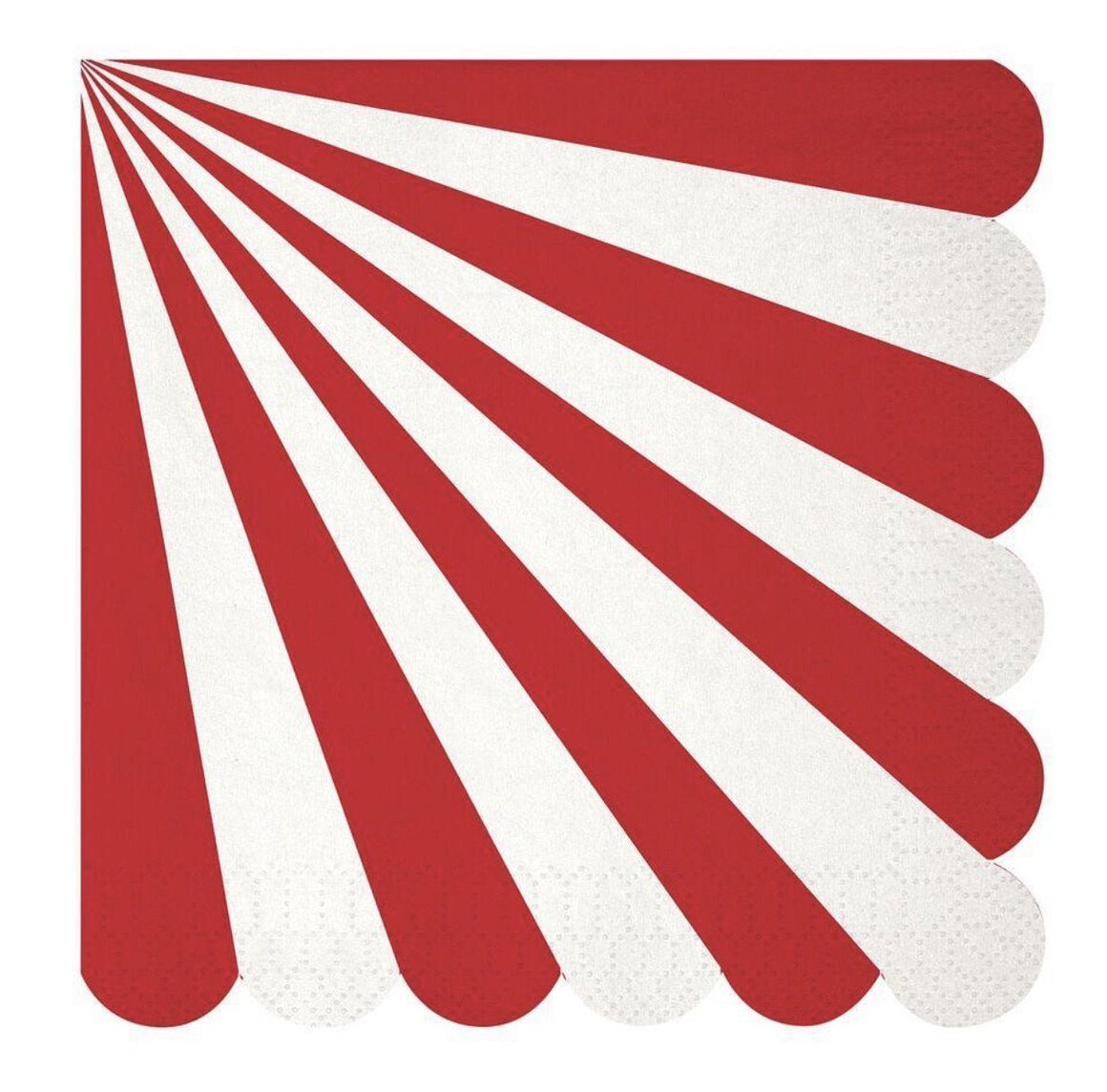 NAPKINS - LARGE PINWHEEL RED STRIPE