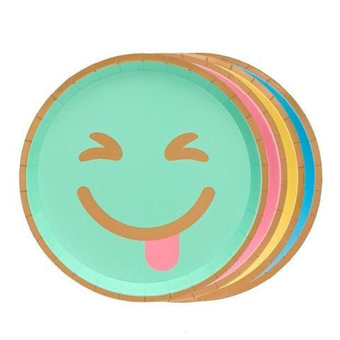PLATES - LARGE MULTI COLOUR EMOJI OH HAPPY DAY