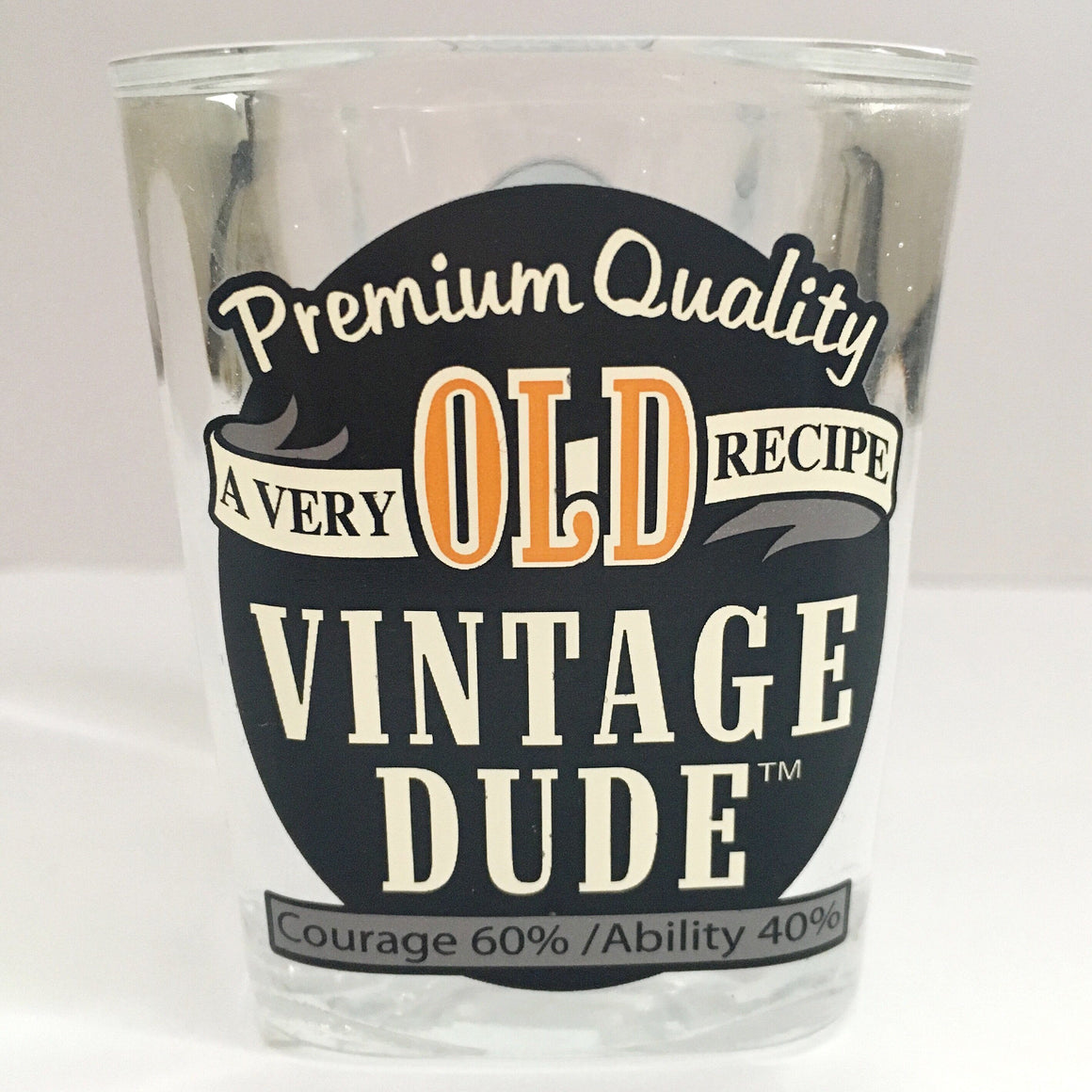 DRINKWARE - SHOT GLASS VINTAGE DUDE, Drinkware, Creative Converting - Bon + Co. Party Studio