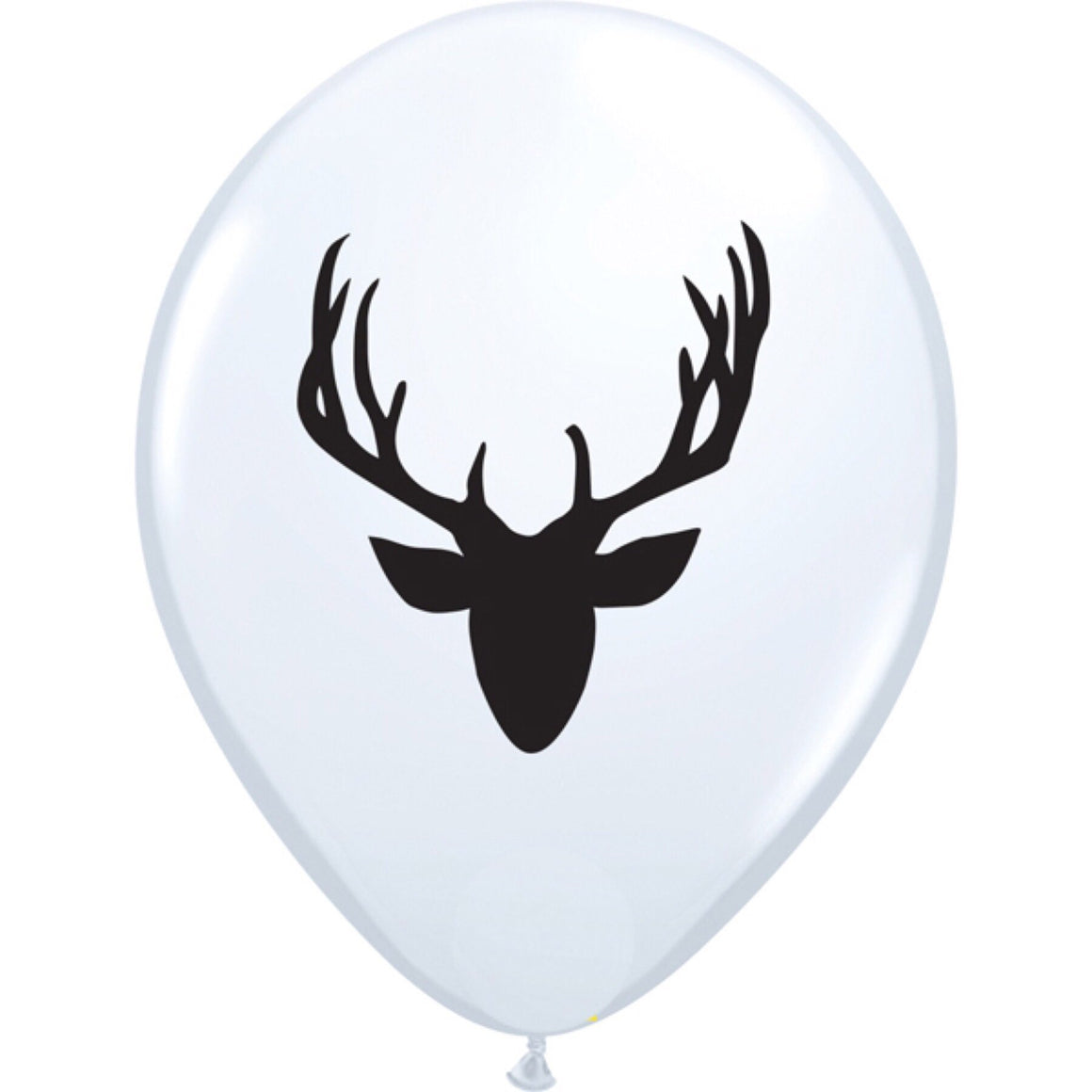 "BALLOON BAR - ANIMAL STAGS HEAD BLACK ON WHITE 11"", Balloons, QUALATEX - Bon + Co. Party Studio"
