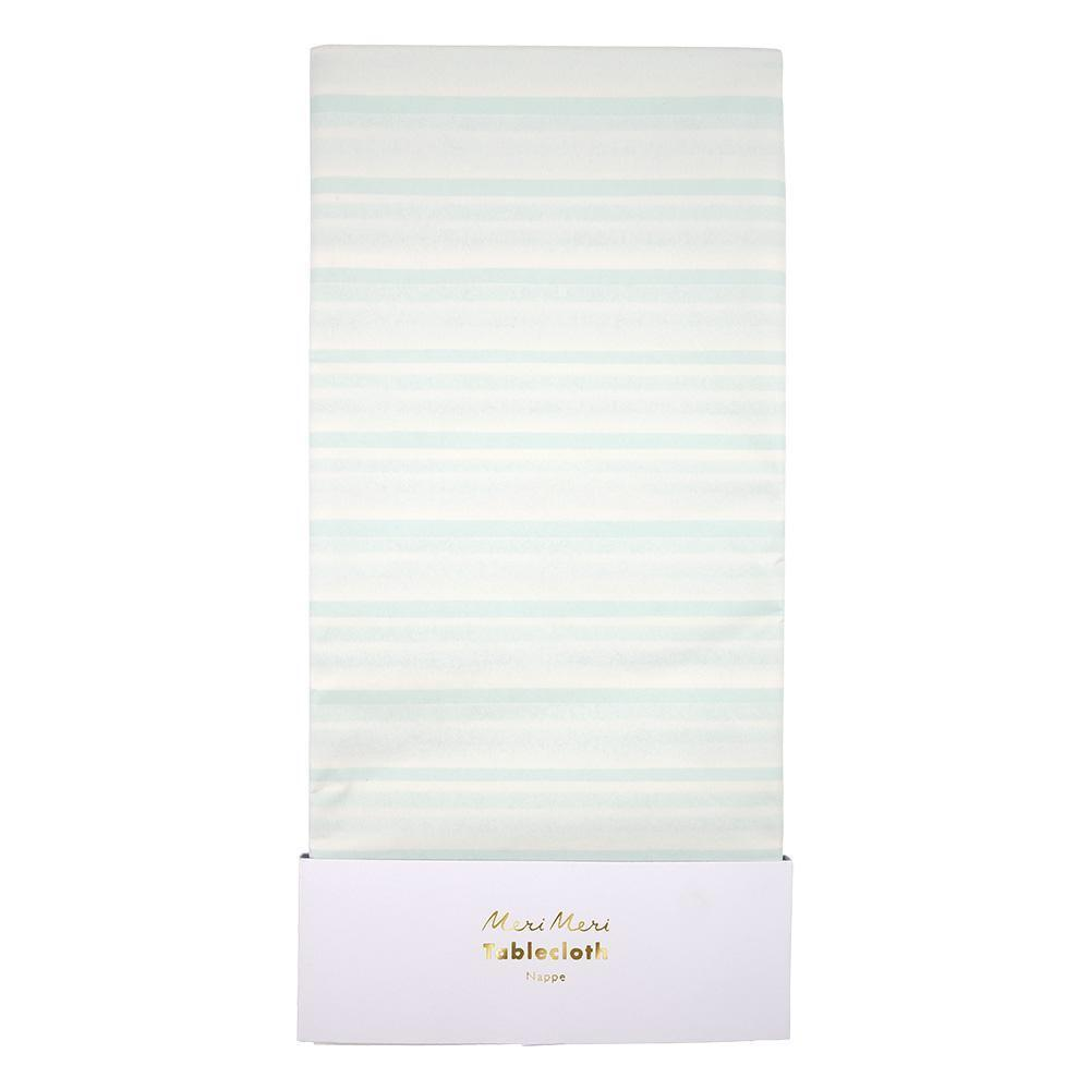 TABLECOVER - MINT STRIPE, tablecovers, MERI MERI - Bon + Co. Party Studio
