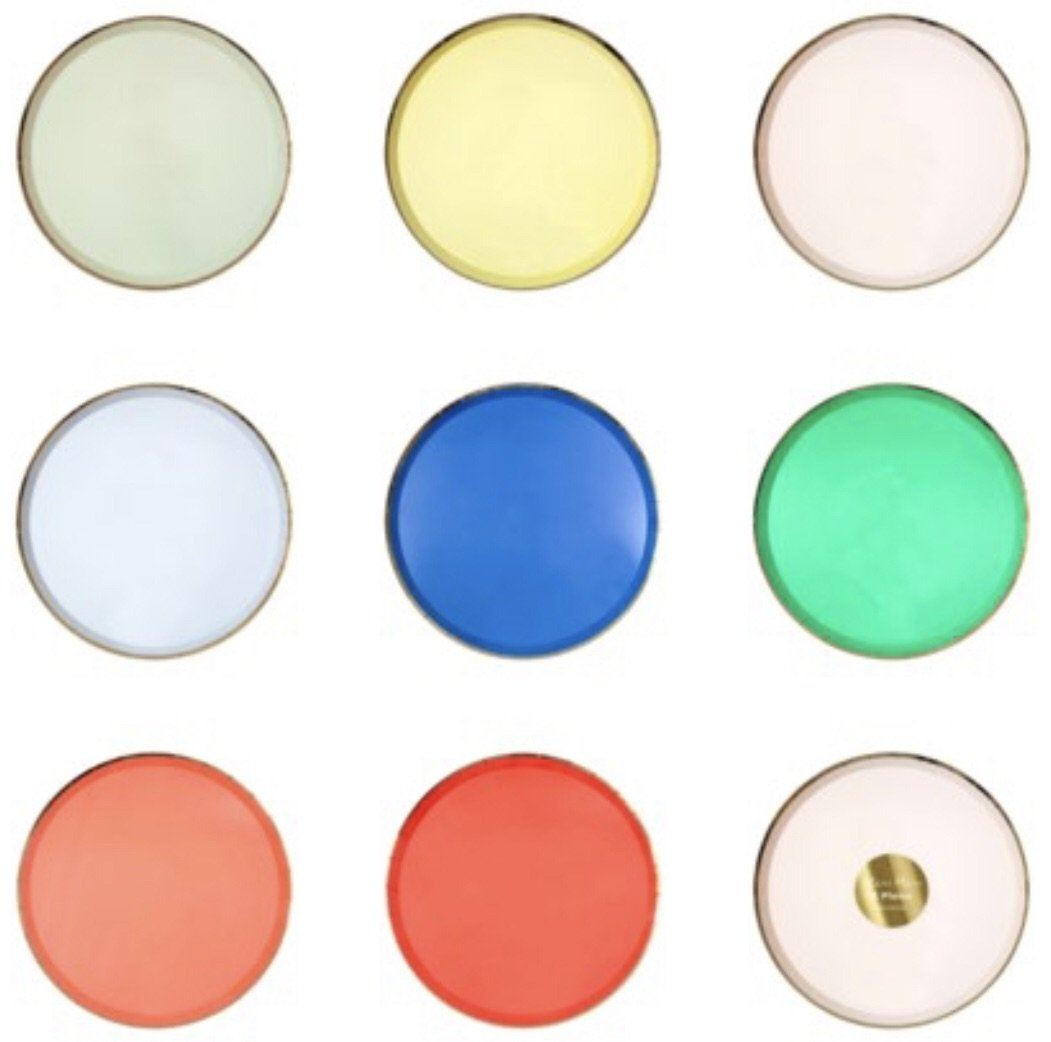 PLATES - LARGE SIDE PARTY PALETTE, PLATES, MERI MERI - Bon + Co. Party Studio