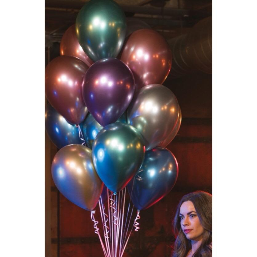 "BALLOON BAR - 11"" CHROME (**GOLD soldout til end of October), Balloons, QUALATEX - Bon + Co. Party Studio"