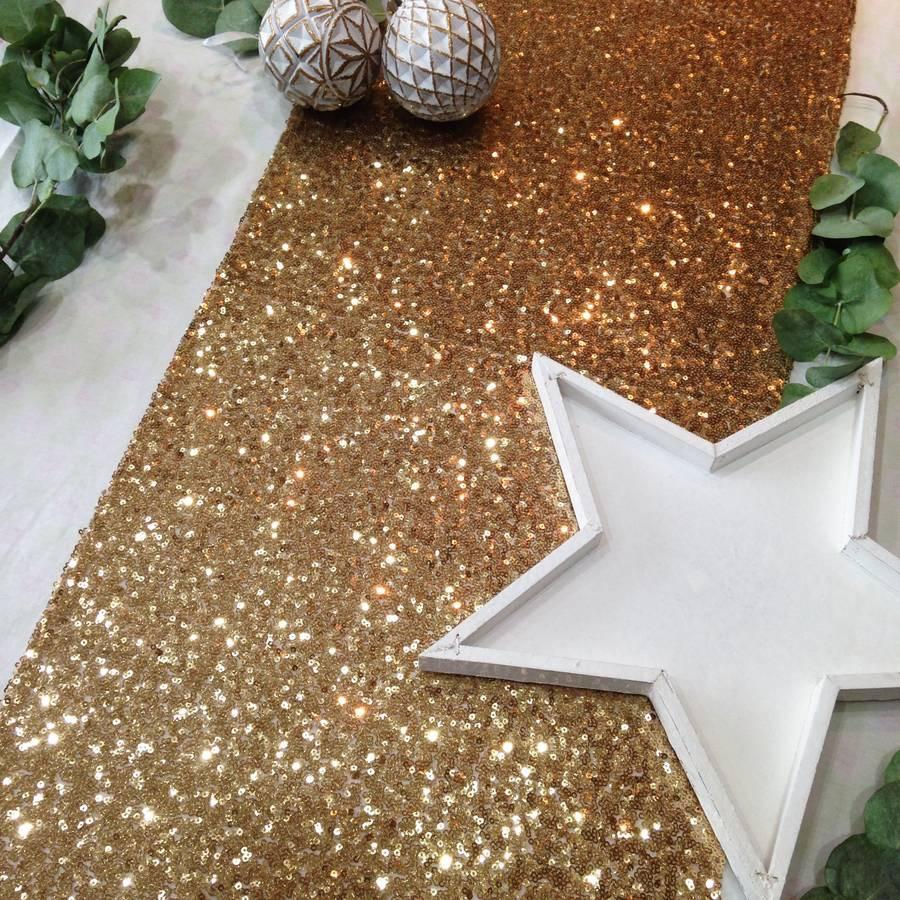 TABLERUNNER - GOLD SEQUIN