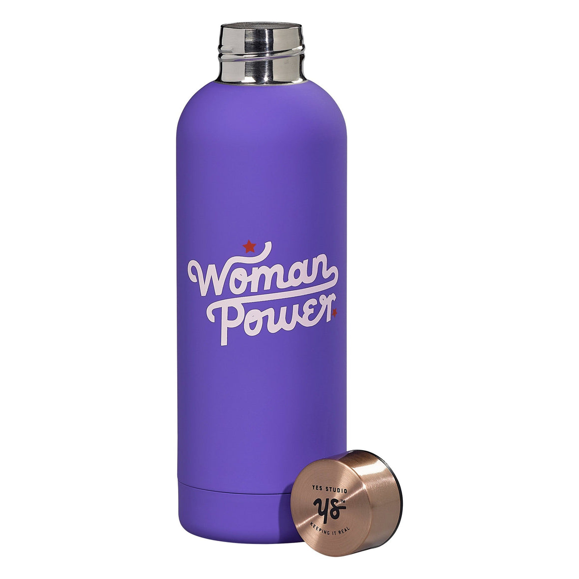 DRINKWARE - WATER BOTTLE WOMAN POWER, Drinkware, Wild & Wolf - Bon + Co. Party Studio