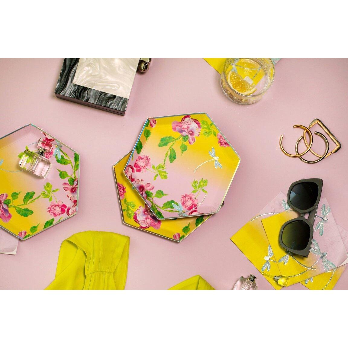 PLATES - SMALL GOLDEN HOUR FLORAL OMBRE HARLOW & GREY x CYNTHIA ROWLEY